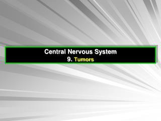 Central Nervous System 9.  Tumors