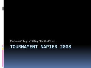 Tournament Napier 2008
