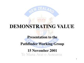DEMONSTRATING VALUE