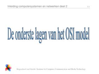 De onderste lagen van het OSI model