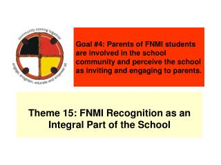 Theme 15: FNMI Recognition as an Integral Part of the School