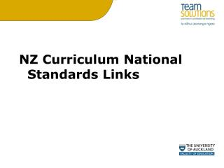 NZ Curriculum National Standards Links