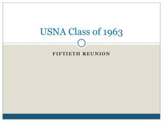 USNA Class of 1963