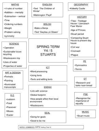 SPRING TERM  Y4 / 5 STUARTS