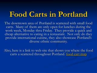 Food Carts in Portland