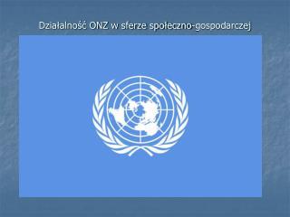 Dzia?alno?? ONZ w sferze spo?eczno-gospodarczej