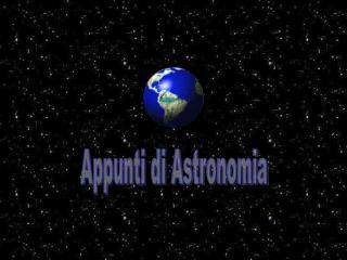 Appunti di Astronomia