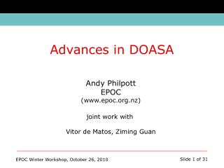 Andy Philpott EPOC (epoc.nz) joint work with  Vitor de Matos, Ziming Guan