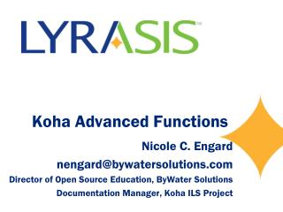 Koha Advanced Functions
