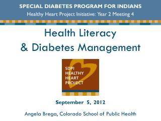 Health Literacy  & Diabetes Management