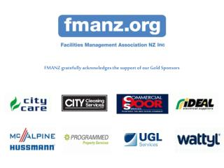 FMANZ gratefully acknowledges the support of our Gold Sponsors