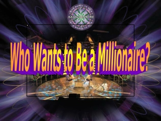 Subtraction - Who wants to be a millionaire