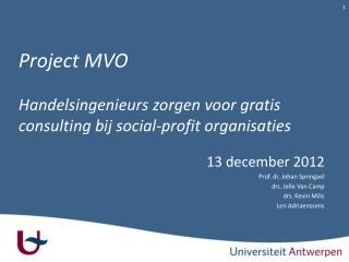 Project MVO H andelsingenieurs  zorgen voor gratis consulting bij  social-profit organisaties