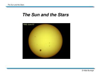 The Sun and the Stars