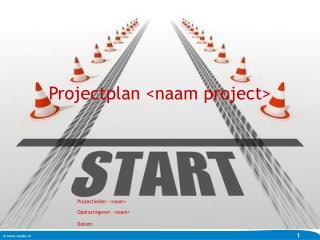 Projectplan <naam project>
