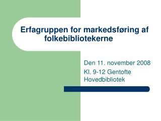 Erfagruppen for markedsføring af folkebibliotekerne