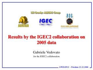 Results by the IGEC2 collaboration on 2005 data
