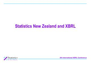 Statistics New Zealand and XBRL