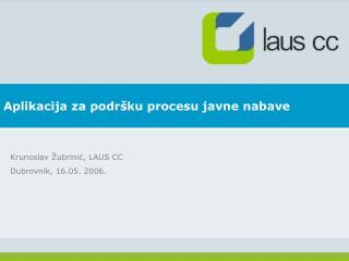 Aplikacija za podršku procesu javne nabave