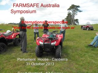 FARMSAFE Australia Symposium       International perspective