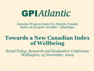 Indicators: Where we are at in Canada and New Zealand