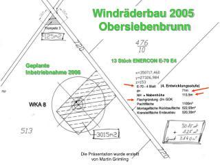 Geplante  Inbetriebnahme 2006