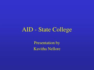 AID - State College