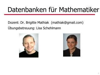 Datenbanken f�r Mathematiker