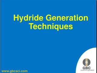 Hydride Generation Techniques