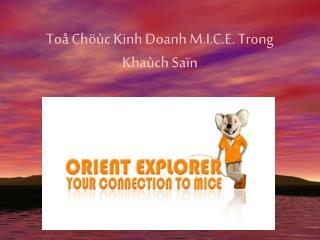 Toå Chöùc Kinh Doanh M.I.C.E. Trong Khaùch Saïn