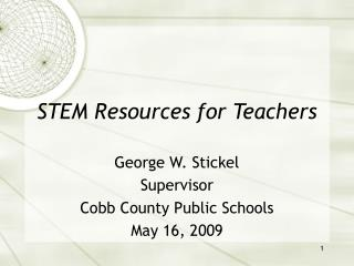 STEM Resources for Teachers