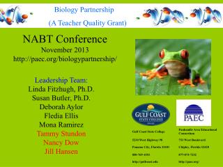NABT Conference November 2013 paec/biologypartnership/
