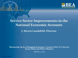 Service Sector Improvements in the National Economic Accounts