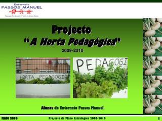 """ A Horta Pedagógica "" 2009-2010"