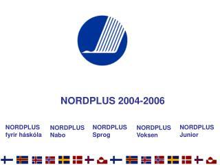 NORDPLUS  2004-2006