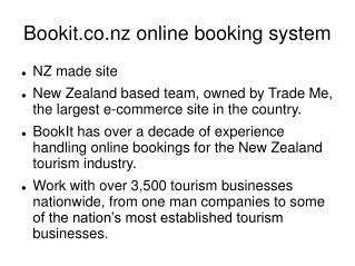 Bookit online booking system