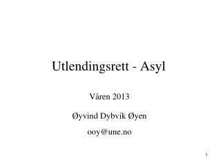Utlendingsrett - Asyl