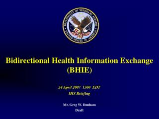 Bidirectional Health Information Exchange  (BHIE)