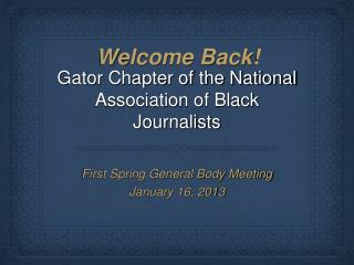 Gator Chapter of the National Association of Black Journalists