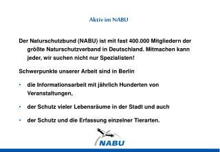 Aktiv im NABU