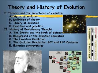 Theory and History of Evolution