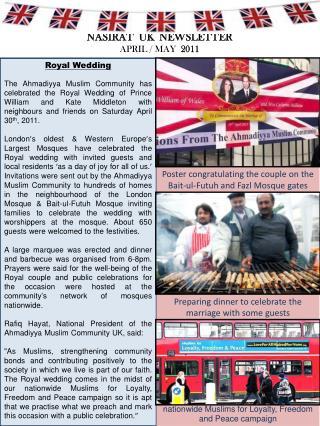 NASIRAT  UK  NEWSLETTER APRIL / MAY   2011