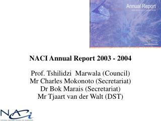 NACI Annual Report 2003 - 2004