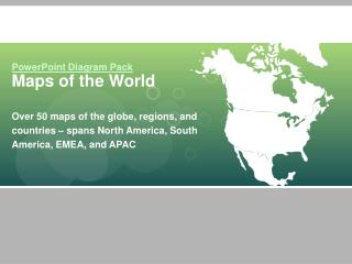 PowerPoint Diagram Pack Maps of the World