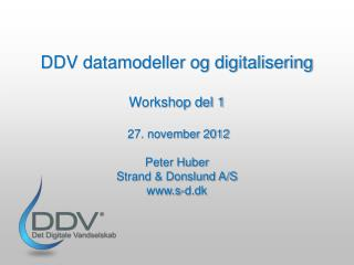 Vandsektorens digitalisering med Det Digitale Vandselskab  � hvordan det virker�