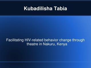 Kubadilisha Tabia