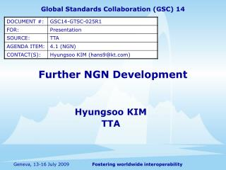 Further NGN Development