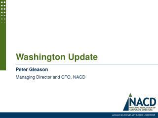 Washington Update