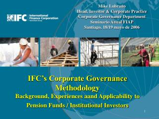 Mike Lubrano Head, Investor & Corporate Practice Corporate Governance Department