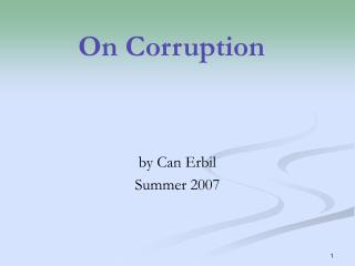 On Corruption